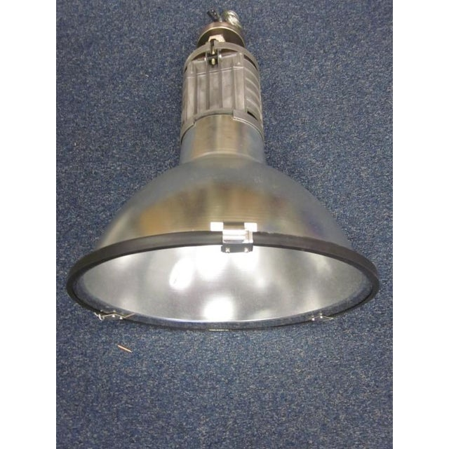 Five Large French Mid-Century Industrial Lights - Image 2 of 8