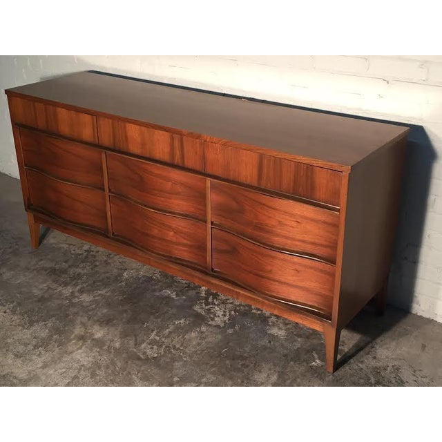 Image of Mid-Century Modern Walnut Dresser
