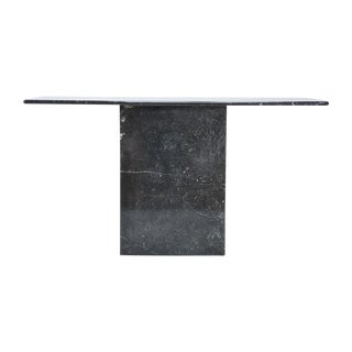 Modern Black Marble Console Table