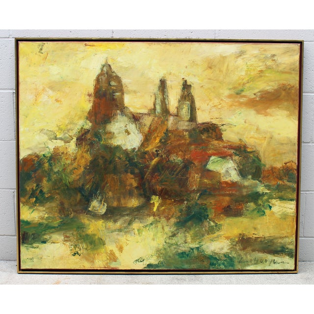 Image of Hugo Paul Ten Houpen Painting - Yellow Towers