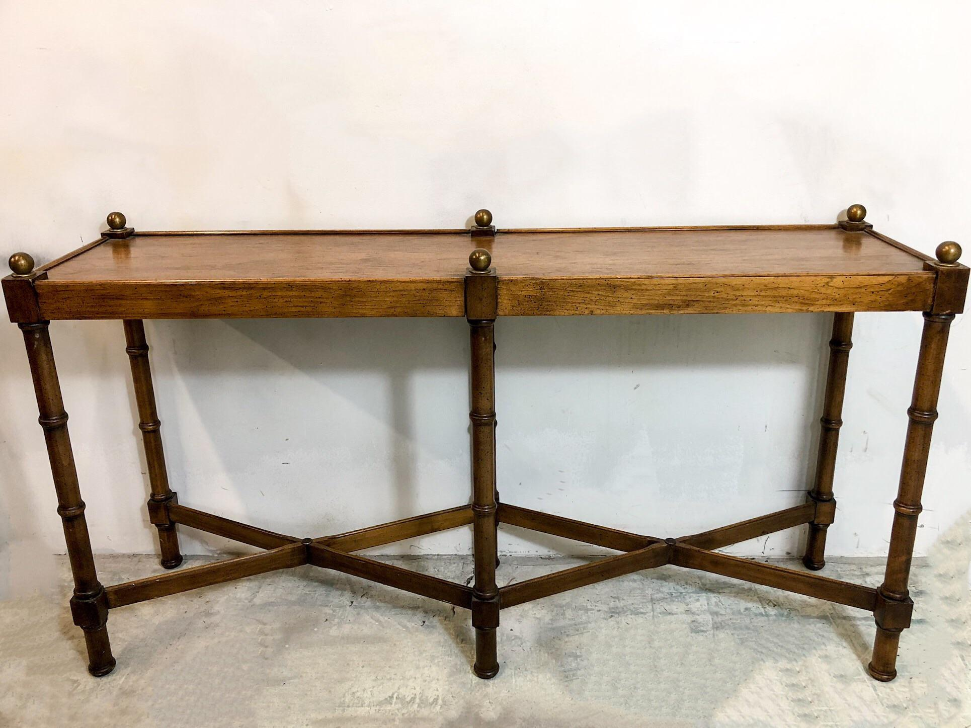 Faux Bamboo Console Table By Brandt   Image 5 Of 5