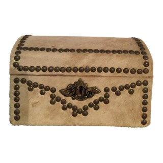 Cowhide Studded Box