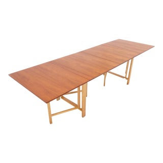 Signed Bruno Mathsson Gate Lag Maria Extension Dining Table
