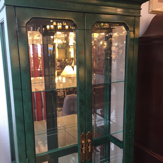 Emerald Curio Cabinet by American of Martinsville - Image 4 of 11