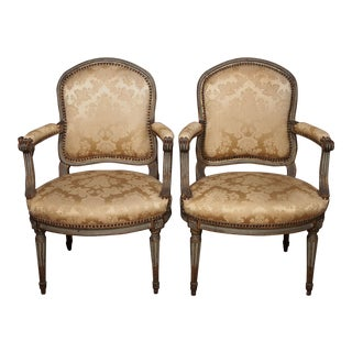 18th Century set of (6) Transition Armchairs stamped F.Geny