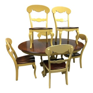 Nichols & Stone Dining Table & Chairs - Set of 7