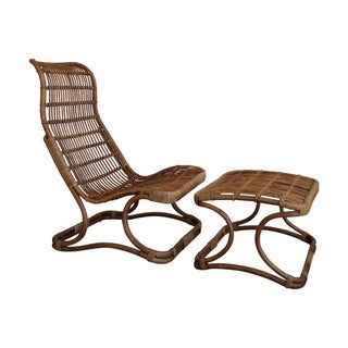Roost Anders High Back Chair and Ottoman