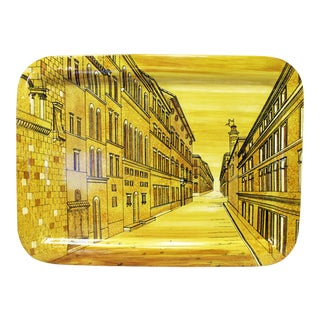 Piero Fornasetti Yellow Metal Tray