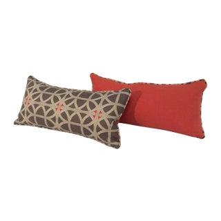 Lumbar Lattice Toss Pillows - A Pair
