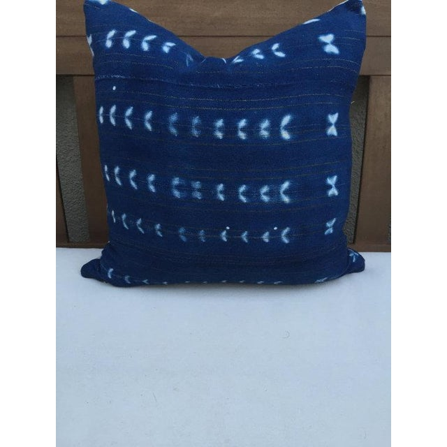 Vintage Indigo Textile Pillow - Image 2 of 5