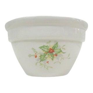 Halls China Christmas Custard Bowls - A Pair