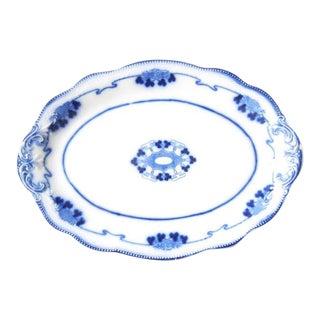Antique English Flow Blue Serving Platter