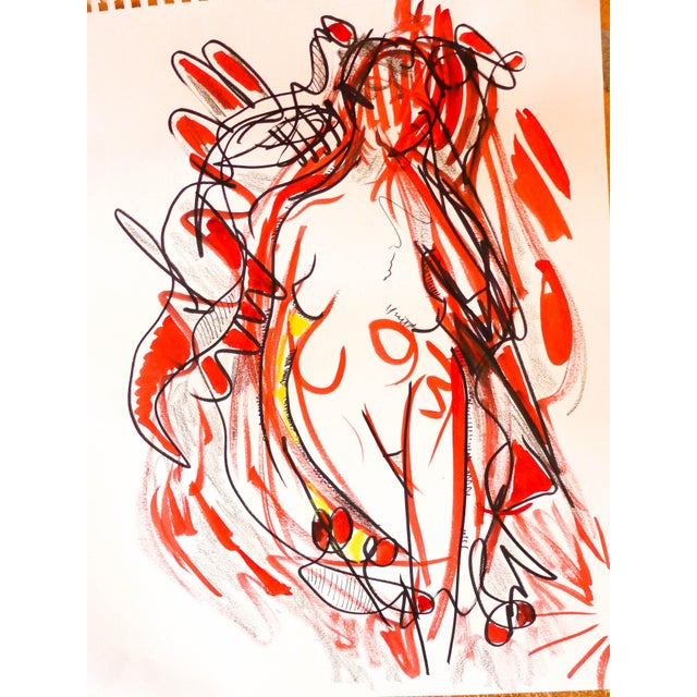 Nude Dancing to Music Drawing - Image 3 of 6