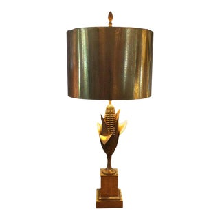 Signed Maison Charles Vintage Table Lamp and Shade