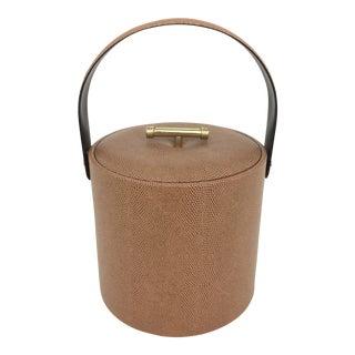 Vintage George Briard Faux Snakeskin Ice Bucket