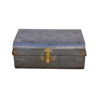 1950s Grey Iron Traveler'S Trunk