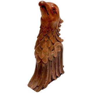 Vintage Carved Wooden Eagle Sculpture