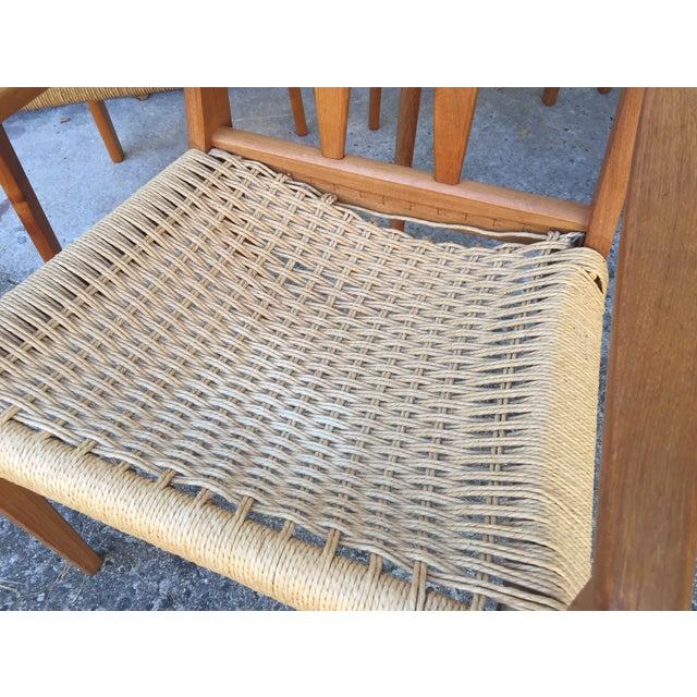 Danish Teak Dining Chairs W/Rope Seats - Set of 5 - Image 8 of 9