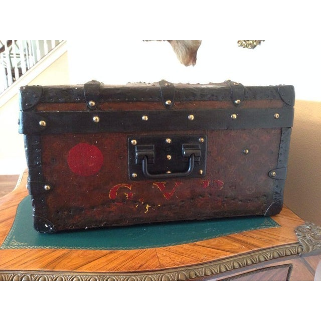Vintage Louis Vuitton 3/4 Travel Steamer Trunk - Image 9 of 11