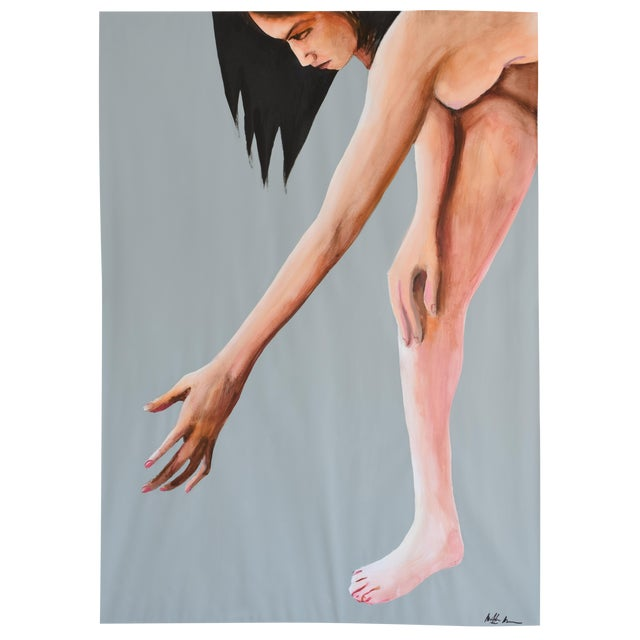 Contemporary Acrylic Painting - Reach - Image 1 of 9