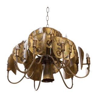 Tom Greene for Feldman Lighting Designed Brutalist Chandelier