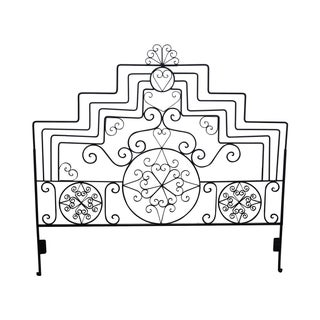 Ornate Scrolled Wrought Iron King Size Headboard