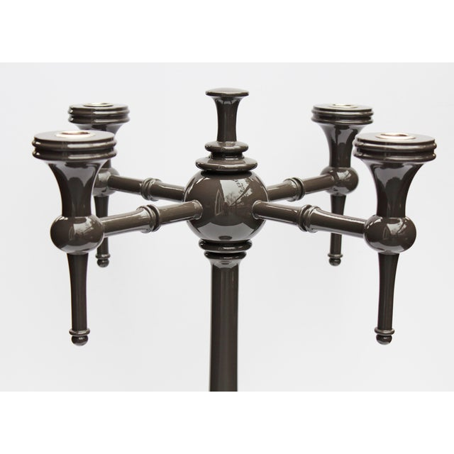"Dunes and Duchess ""Moderne"" Candelabra in Grey - Image 4 of 7"