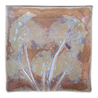 Raku Style Ceramic Art Plate