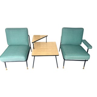 Mid-Century Patio Chairs & Side Table Set