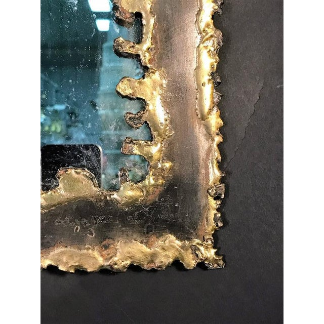 Paul Evans Style Brutalist Mirror - Image 3 of 8