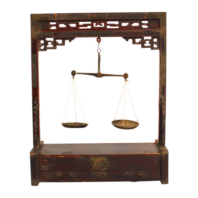Chinese Carved Balance Scale - Image 1 of 6