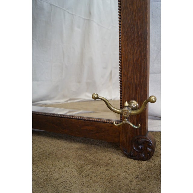 David Dangerous Entrance Hall Victorian House: Antique Victorian Oak Carved Hall Mirror