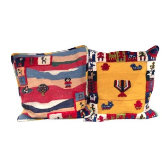 Vintage South American Pillows - A Pair