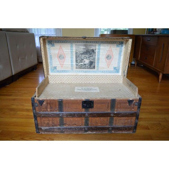 1800 S Antique Steamer Trunk Chairish