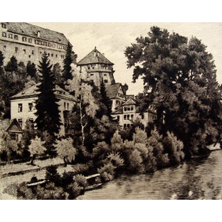 Etching of a European Castle