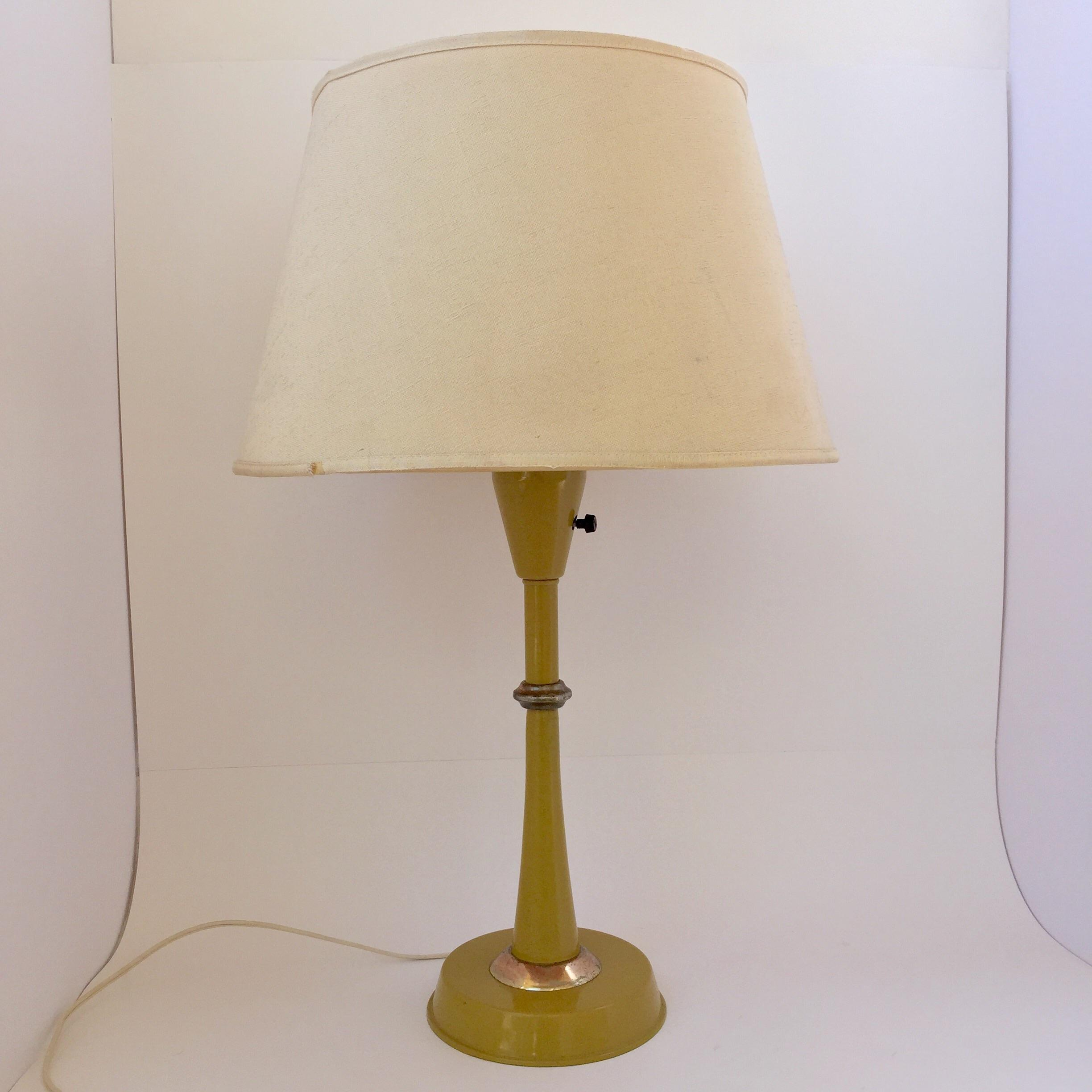 Gerald Thurston Table Lamp In Mustard   Image 2 Of 9