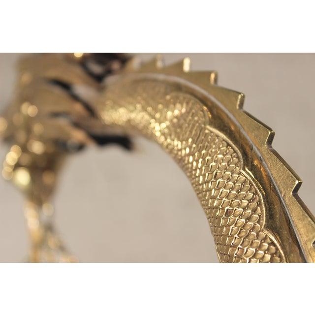 Tibetan Hammered & Pierced Brass Dragon Floor Lamp - Image 8 of 11