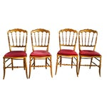 Image of Antique French Spindle Back Chiavari Chairs - S/4