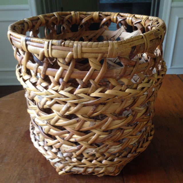 Large Vintage Rattan Planter Basket - Image 11 of 11