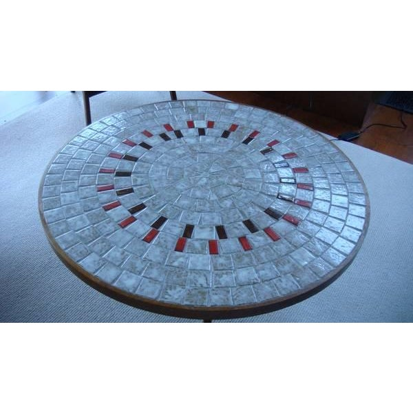 Mid-Century Ceramic Tiled Walnut Coffee Table - Image 3 of 3