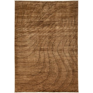 """New Gabbeh Hand Knotted Area Rug - 6'2"""" x 8'9"""""""