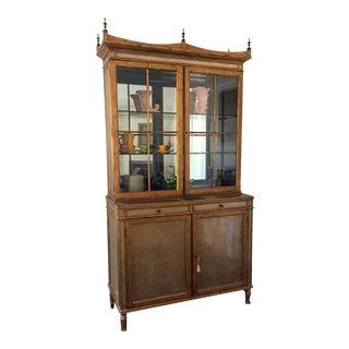 Theodore Alexander Art Deco Mahogany Display Cabinet
