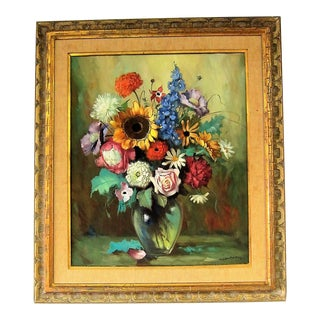 Helmut Andreas Volkwein Floral Oil Painting