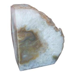 Quartz & Agate Geode Bookend