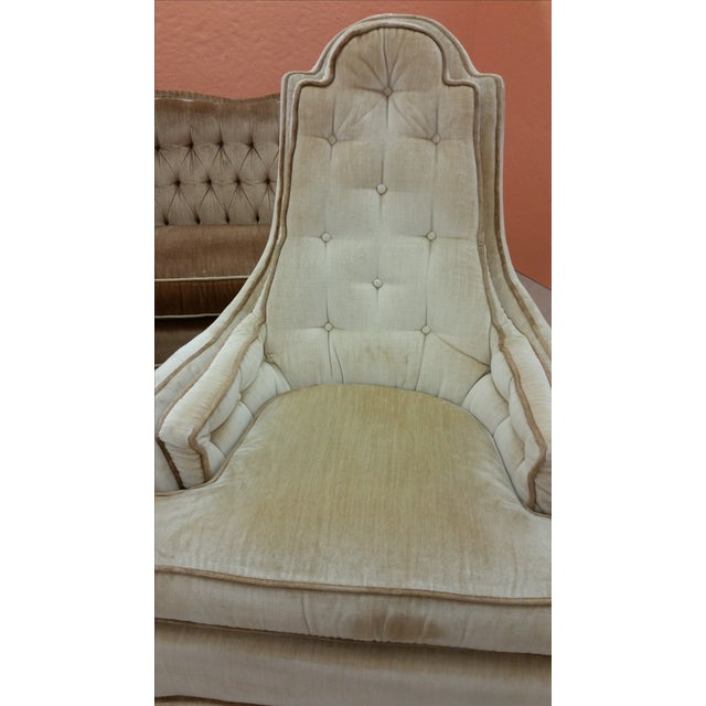 Hollywood Regency Tall Tufted Hickory Chairs -Pair - Image 5 of 7