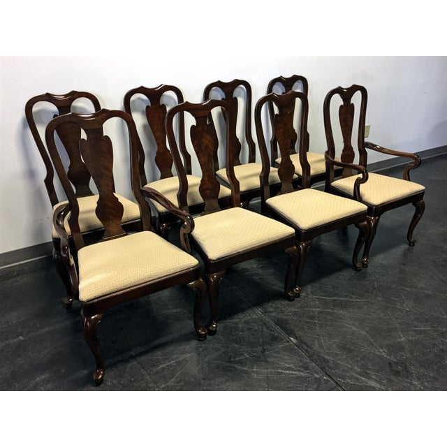 Drexel Heritage Heirloom Mahogany Queen Anne Dining Chairs Set Of 8 Chairish
