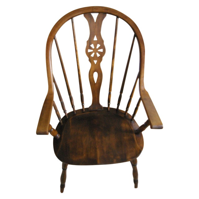 bentwood wheelback arm chair chairish