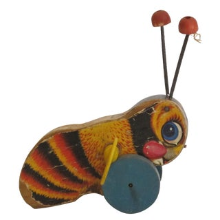 "Antique ""Buzzy Bee"" Pull Toy"