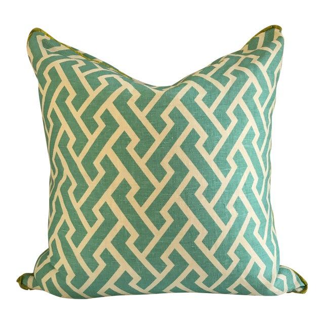 Quadrille China Seas Aga Aqua Pillow - Image 1 of 6