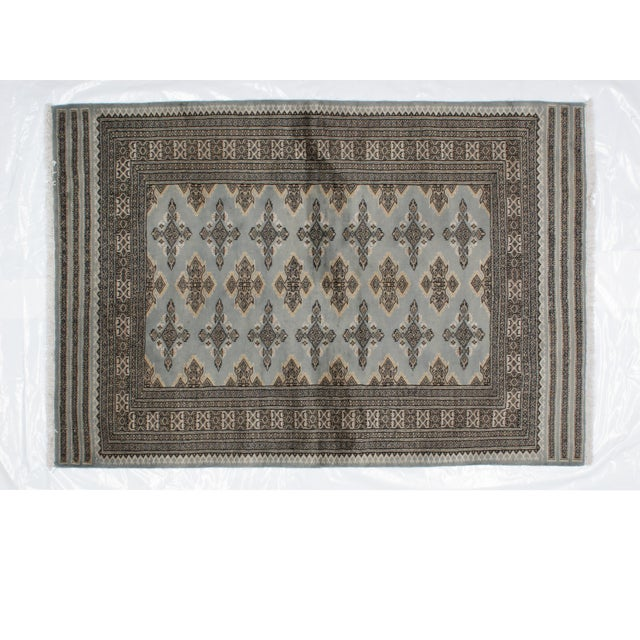 "Leon Banilivi Blue Royal Bokara Rug - 4'1"" X 6' - Image 3 of 7"